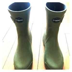 Gorgeous Green Chameau Rain Boots